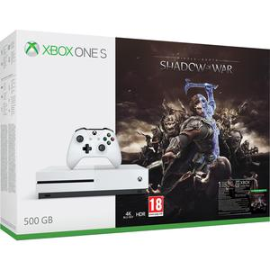 Konsole Microsoft Xbox One S 500GB + 1 Controller + Middle-earth: Shadow of War - Weiß