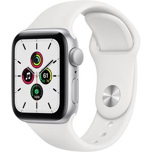 Apple Watch (Series SE) Septembre 2020 40 mm - Aluminium Argent - Bracelet Sport Blanc