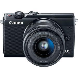 Hybride Camera Canon EOS M100 Zwart + Lens Canon Zoom Lens EF-M 15-45 mm f/ 3.5-6.3 IS STM
