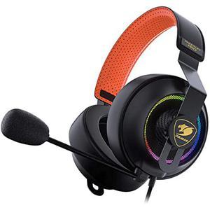 Casque Réducteur de Bruit Gaming avec Micro Cougar Phontum Pro - Noir/Orange