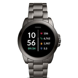 Montre Cardio GPS Fossil Gen 5E Smartwatch Smoke Stainless Steel FTW4049 - Gris anthracite