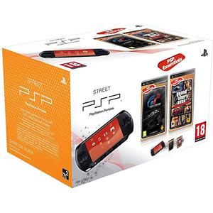 Consola portable Sony PSP Street E1004 + videojuegos Gran Turismo + GTA : Liberty City Stories - Negro