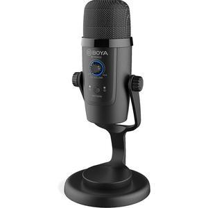 Condensator USB microfoon voor streaming, studio en podcast Boya BY-PM500 - Zwart