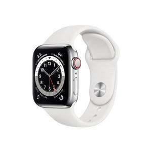 Apple Watch (Series 6) Septembre 2020 40 mm - Aluminium Argent - Bracelet Sport Blanc