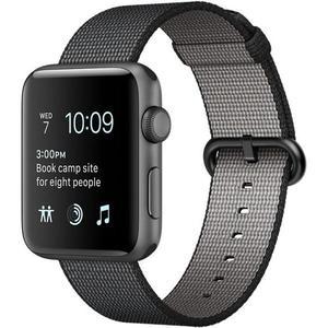 Apple Watch (Series 1) 42 mm - Aluminium Zwart - Armband Geweven nylon Zwart