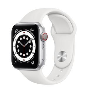 Apple Watch (Series 6) Septiembre 2020 44 mm - Aluminio Plata - Correa Deportiva Blanco
