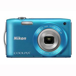 Compact - Nikon Coolpix S3300 Bleu Nikkor Nikkor Wide Optical Zoom VR 26-156mm f/3.5-6.5
