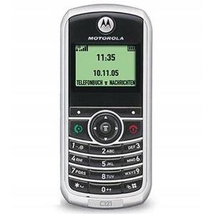 Motorola C121 - Plata/Negro- Libre