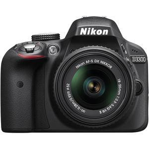 Spiegelreflexkamera Nikon D3300 Schwarz + Objektiv Nikon AF-S DX Nikkor G II 18-55 mm f/3.5-5.6G II ED