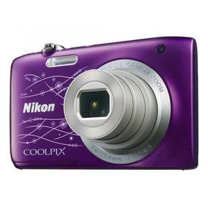 Kompakt Kamera Nikon Coolpix S2800 - Violett + Objektiv Nikkor 5x Wide Optical Zoom 26-130mm f/3.2-6.5