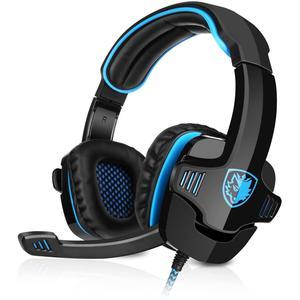 Cascos Gaming Micrófono Sades SA-901 - Negro/Azul