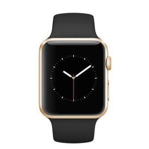 Apple Watch (Series 3) 38 - Aluminium Or - Bracelet Sport Noir