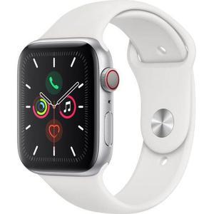 Apple Watch (Series 5) September 2019 40 mm - Aluminium Zilver - Armband Sport armband Wit