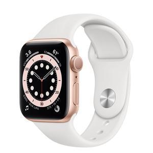 Apple Watch (Series 4) Syyskuu 2018 40 mm - Alumiini Ruusukulta - Armband Sport loop Wit