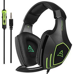 Kopfhörer Rauschunterdrückung Gaming mit Mikrophon Supsoo G820 - Schwarz/Grün