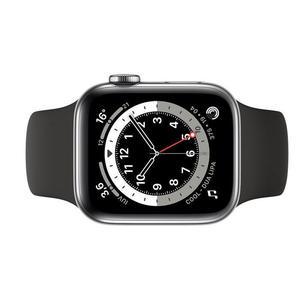Apple Watch (Series 3) September 2017 38 mm - Aluminium Zilver - Armband Sport armband Zwart