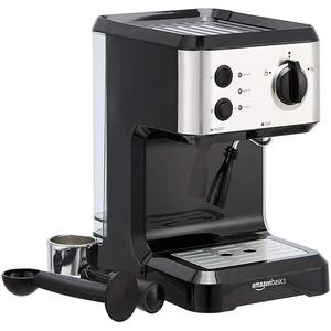 Espressomaschine Amazon Basics CM4677E-GS-BS