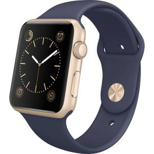 Apple Watch (Series 2)  38 mm - Aluminium Gold -  Armband Sportarmband Blau
