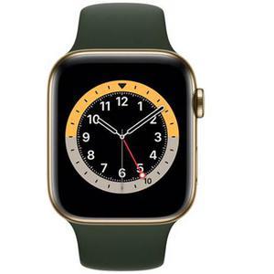 Apple Watch (Series 6) Septiembre 2020 44 mm - Titanio Oro - Correa Deportiva Verde