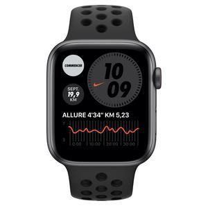 Apple Watch (Series 5) Σεπτέμβριος 2019 40mm - Αλουμίνιο Space Gray - Sport Nike Ανθρακίτης/Μαύρο