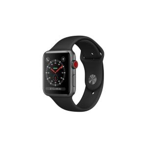 Apple Watch (Series 3) Septembre 2017 38 mm - Aluminium Gris sidéral -  Bracelet Sport Noir
