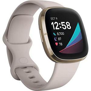 Montre Cardio GPS Fitbit Sense - Blanc