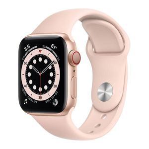 Apple Watch (Series 6) Σεπτέμβριος 2020 40mm - Αλουμίνιο Χρυσό - Αθλητισμός Ροζ άμμος