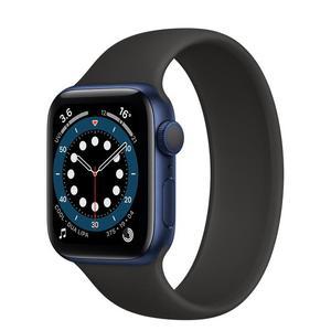 Apple Watch (Series 6) Septiembre 2020 44 mm - aluminio Azul - Correa Deportiva Negro