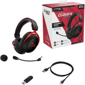 Kopfhörer Gaming Bluetooth mit Mikrophon Hyperx Cloud II - Rot/Schwarz