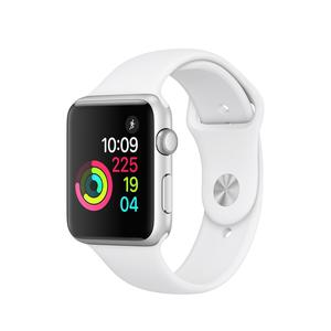 Apple Watch (Series 2) 42 - Stainless steel Silver - Sport White