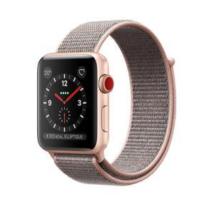 Apple Watch (Series 3) September 2017 38 - Aluminium Gold - Woven nylon Silver