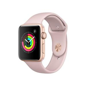 Apple Watch (Series 3) 42 mm mm - Aluminium Gold - Armband Sportarmband Rosa