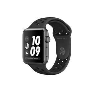 Apple Watch (Series 3) September 2017 42 mm - Aluminium Space Grau - Armband Nike Sportarmband Schwarz