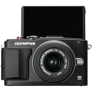 Hybride - Olympus E-PL6 - Noir + Objectif 14-42 mm II R + Objectif 40-150 mm II R + flash FL-LM1