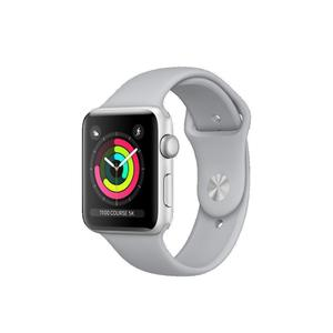 Apple Watch (Series 3) 2017 42 mm - Aluminium Silber - Armband Sportarmband