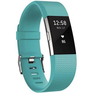 Relojes Cardio GPS Fitbit Charge 2 - Cyan