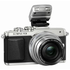 Olympus PEN Lite E-PL7 + Flash + 14-42mm f/3.5-5.6 + 40-150mm f/4-5.6 + 45mm f/1.8
