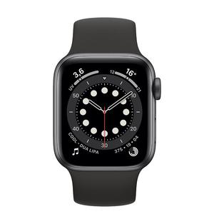 Apple Watch (Series 6) September 2020 40 mm - Aluminium Space Grau - Armband Sportarmband Schwarz