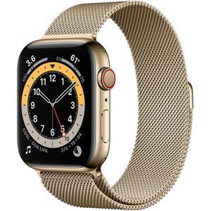 Apple Watch (Series 6) Septiembre 2020 40 mm - Acero inoxidable Oro - Correa Milanesa Oro