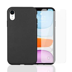 Hülle und Schutzfolie iPhone XR Schwarz