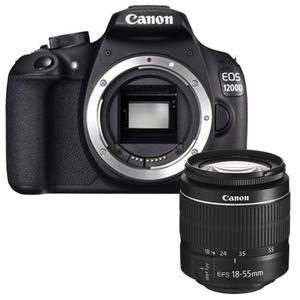 Reflex Canon EOS 1200D - Noir + Objectif Canon EF-S 18 55mm IS STM - Noir