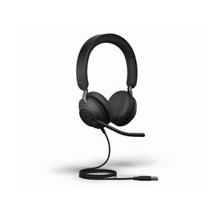 Kopfhörer Rauschunterdrückung mit Mikrophon Jabra Evolve2 40 - Schwarz