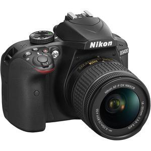 Cámara réflex Nikon D3400 + Negro + lente Nikon AF-P DX Nikkor 18-55mm f/3.5-5.6G VR