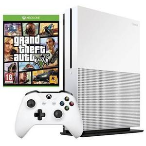Console Microsoft Xbox One S 1 To + GTA 5 - Blanc