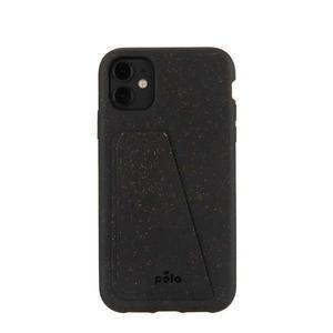 Coque Wallet écoresponsable, 100% biodégradable pour iPhone 11 - Noir