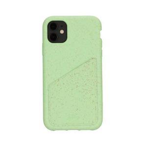Coque Wallet écoresponsable, 100% biodégradable pour iPhone 11 - Menthe
