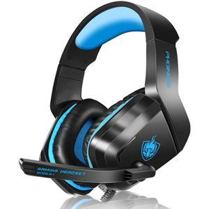 Cascos Gaming Micrófono Phoinikas H1-B - Negro/Azul