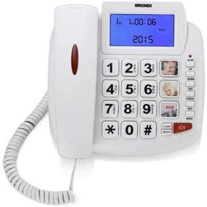 Téléphone Fixé Brondi Bravo 90 LCD - Blanc
