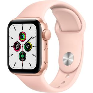 Apple Watch (Series SE) Septembre 2020 40 mm - Aluminium Or - Bracelet Sport Rose des sables