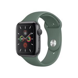 Apple Watch (Series 4) 44 - Aluminium Gris sidéral - Bracelet Sport Vert